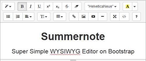 Summernote подойдёт для Laravel  и других фреймворков