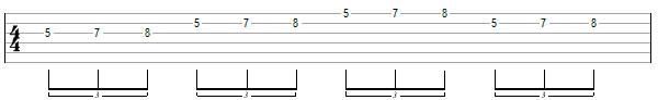 Гитарное упражнение 5