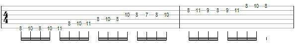 Гитарное упражнение 7