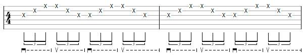 Гитарное упражнение 1