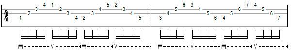 Гитарное упражнение 6