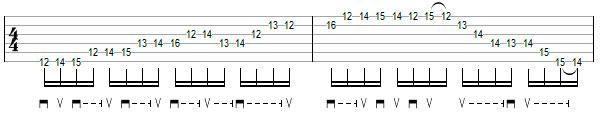 Гитарное упражнение 9