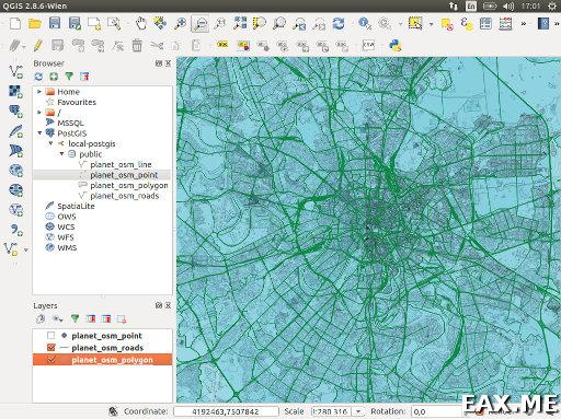 Просмотр геоданных в QGIS