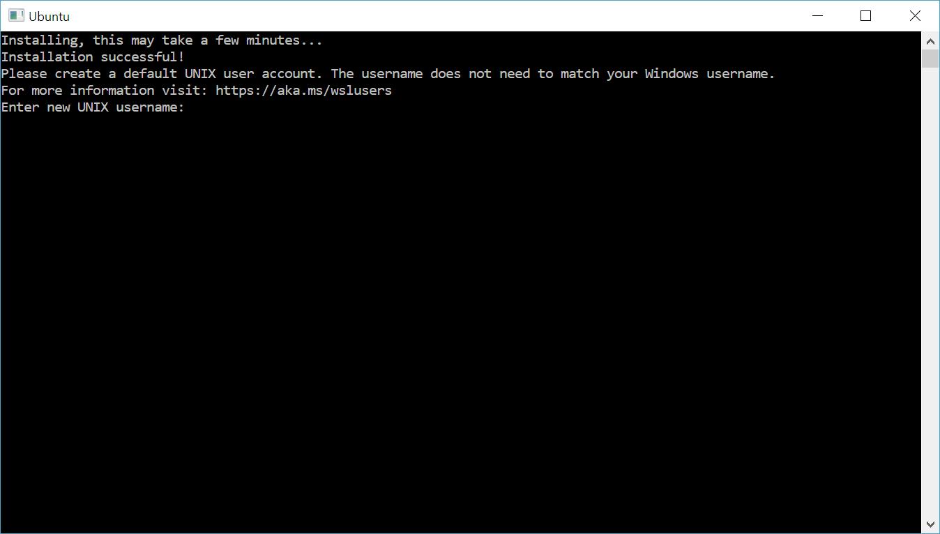 Распаковка Ubuntu в консоли Windows